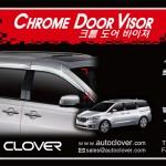 Kia Carnival Auto Clover Chrome Door Visor
