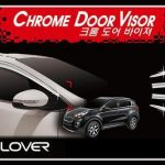 Kia Sportage 2016 Auto Clover Chrome Door Visor